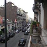 Vista da Via Lepetit em direção à Via Napo Torriani vista da sacada