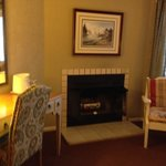 The fireplace in room 113, wildrose. You get 1 log for free, then $3 extra logs