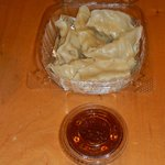 Pot stickers n sauce