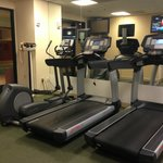 Cardio - machines are also behind the pool as well (outside the fitness center)