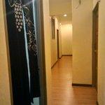 Wooden floor corridor..