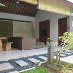 one bedroom villa-view to living hall