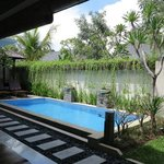 one bedroom villa - view to private pool