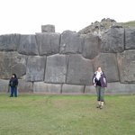 to give an idea of the hight of these walls