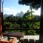 Piton and jungle view from our favourite, Calabash.