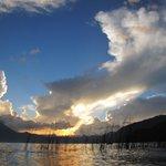 sunset across Lago Atitlan