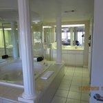 Spa and bathroom area