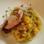 Formosa organic rice/saffron/slicornia/bady squid - pretty nice!