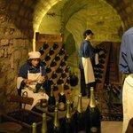 Musee du Vin - champagne bottling exhibit