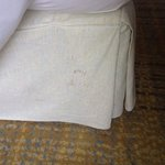 Soiled/stained bedskirt
