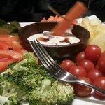 Sharkys Veggie Platter and Ranch Dip