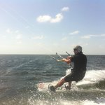 riding with PROKITE in the worlds most ideal kiteboarding conditions on South Padre Island Texas
