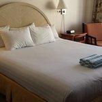 clean comfy bed