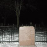 Orb leftside of picture @ cemetary
