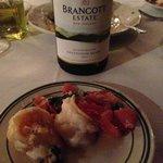 Shared Mediterranean scampi appetizer