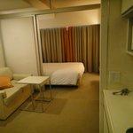 The living & sleeping area