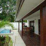 La terrasse du bungalow