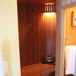 sauna in room