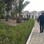 walking around hotel gardens