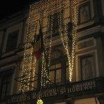 façade illuminée de l'hôtel de ville de Bruxelles