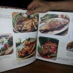a page of menu