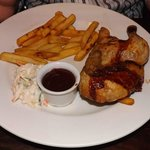 half a roast chicken and chips £10-45  a rip off!