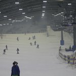 Main ski area, beginner slope much smaller and easy!