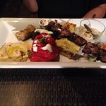 Greek night mezze platter