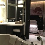 view of room from bath tub