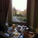 View of our breakfast and lake Windermere. Not sure which is more enticing...