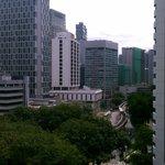 view from 10th floor room overlooking Jalan sultan ismail