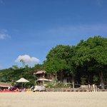Wide shot of resort