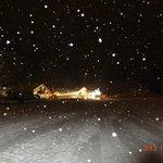 féerie du restaurant sous la neige
