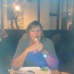 Patricia really enjoy the tartar dish