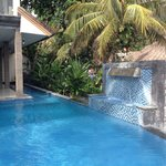 Swimming pool at ground floor villa.
