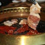 Steak & Pork, freshly grilled!