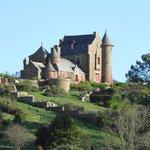 le château en arrivant sur l ile de bréhat
