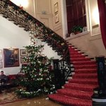 Foyer dressed for Christmas