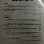 New slimmed down menu