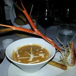 Lobster Bisque at Rocks restuarant