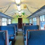 Inside steam train