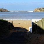 Praia próxima em S. Martinho do Porto