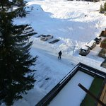 It is possible to ski back to Chalet Hotel Alex when plenty of snow!