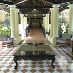 Outdoor portico at the pool