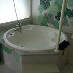 baignoir au milieu de la chambre