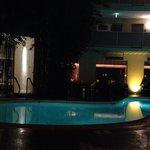 Avalon hotel pool evening