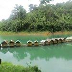 Floating huts on Chiaw Lan Lake