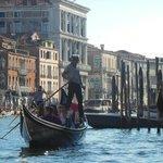 Typical Gondola ride in Venice