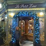My wife outside the stunning Le Petit Zinc