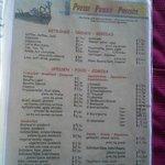 Preisliste Speisekarte